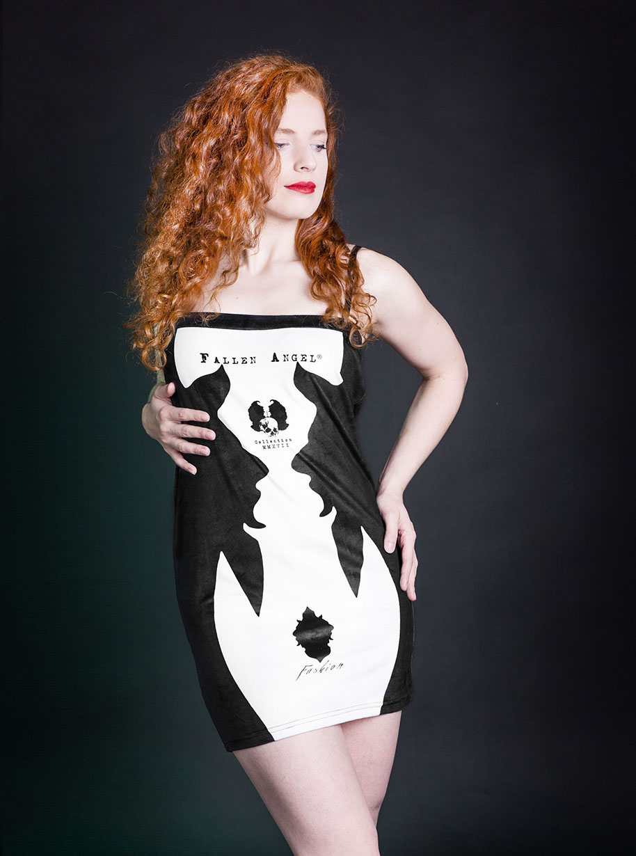 Velvet Devil Skirt | Limited Edition Black and White Skirt