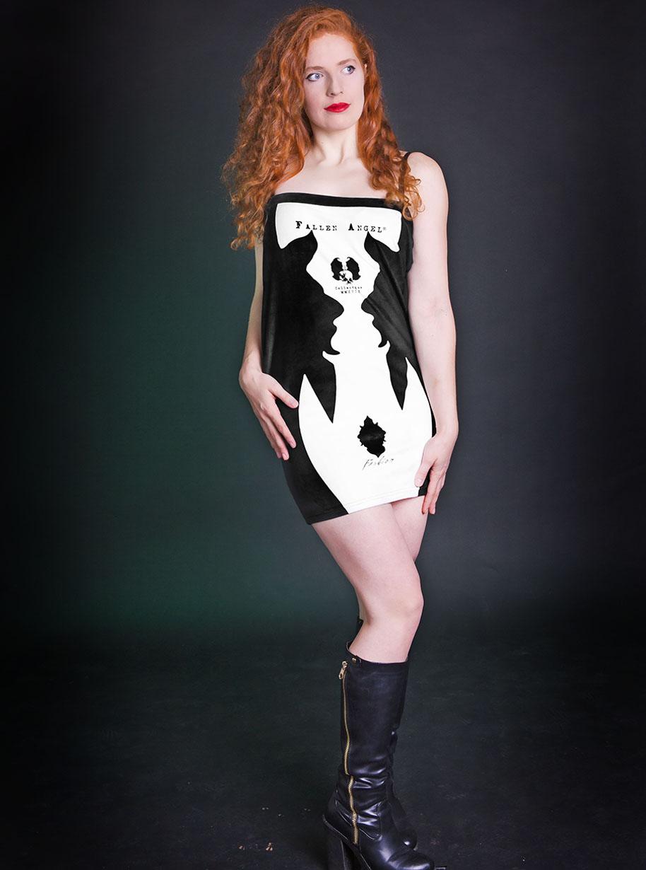 Velvet Devil Skirt | Limited Edition Black and White Skirt