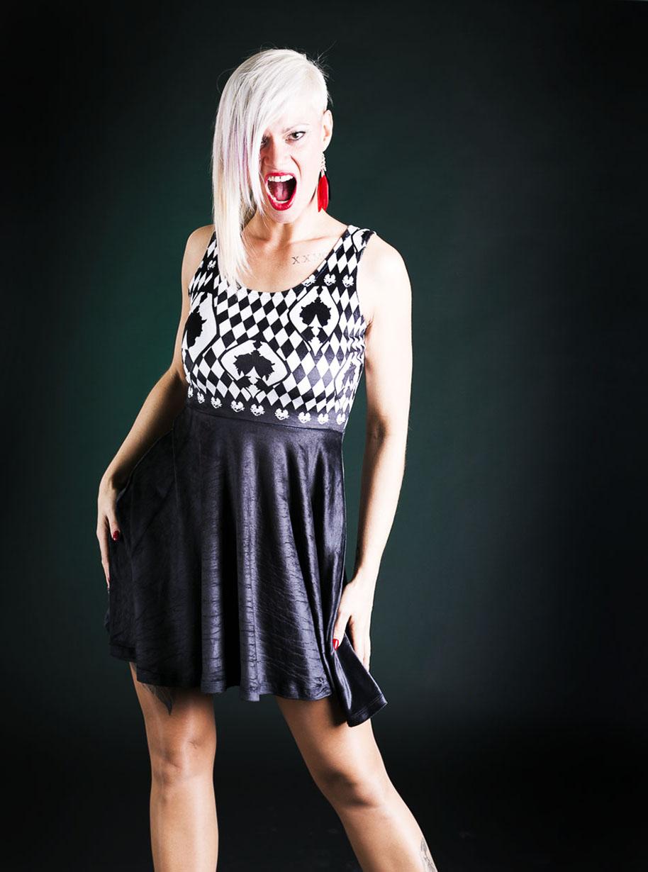 Velvet Sleeveless Midi Ornament Dress   Limited Edition Black and White Dress