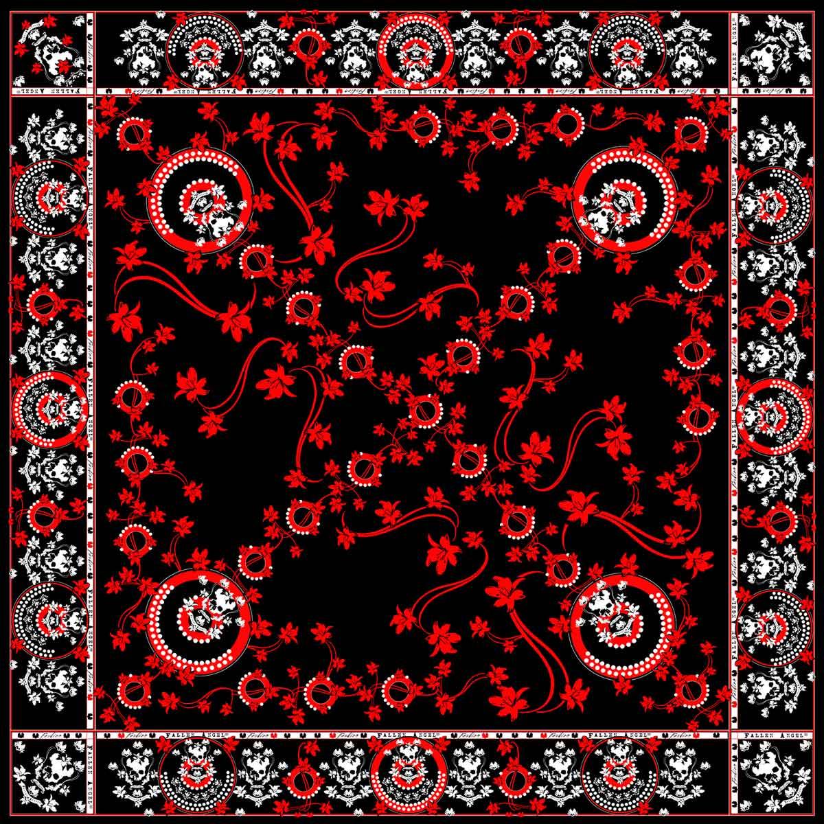 Red-Lilies-Silk Scarf-Fallen-Angel-Fashion