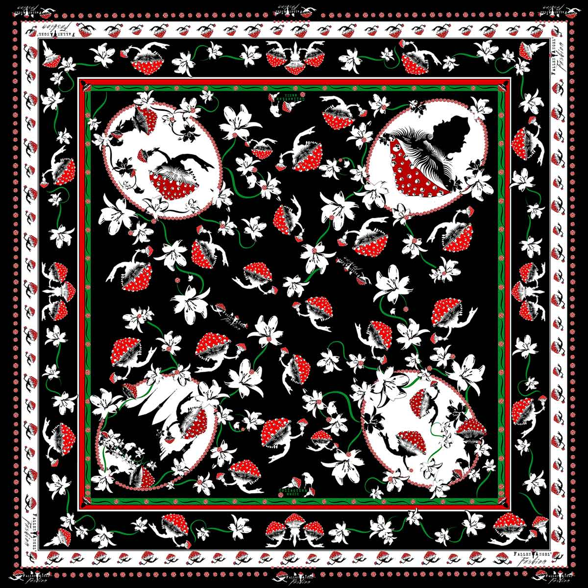 Red-Mushrooms-with-Lilies-and-Skulls-Silk-Scarf-Fallen-Angel-Fashion