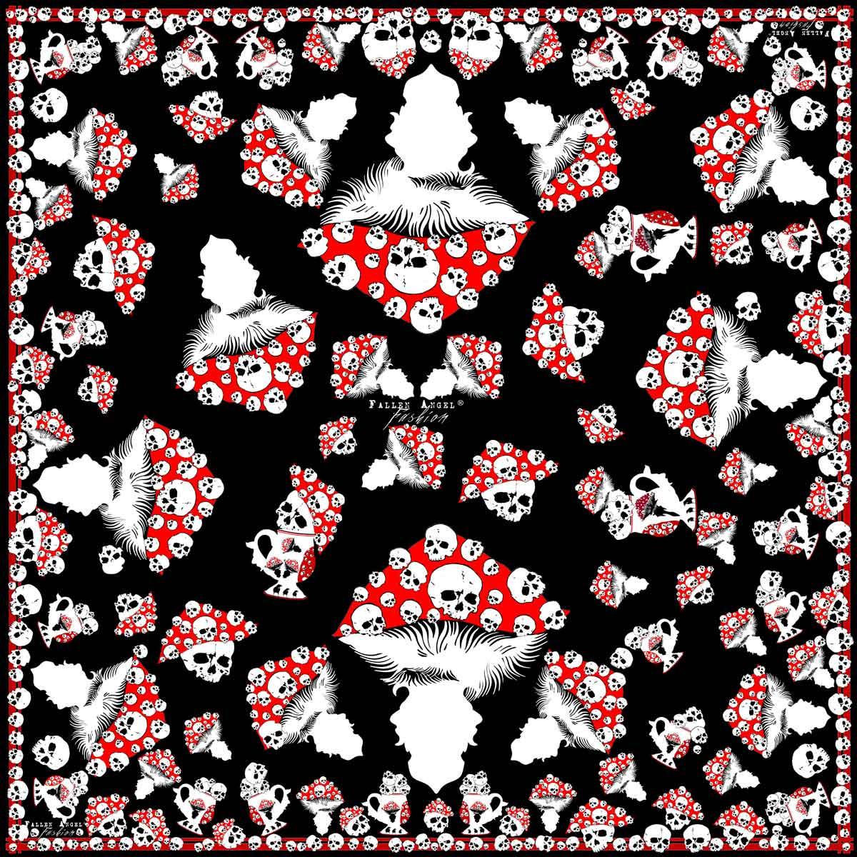 Red-Mushrooms-with-Skulls-Silk-Scarf-Fallen-Angel-Fashion